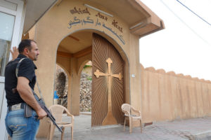 Chaldean-Church-Kurdistan-with-armed-guard-by-Beatrice-Dillies-1