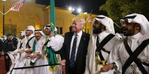 trump dance swords